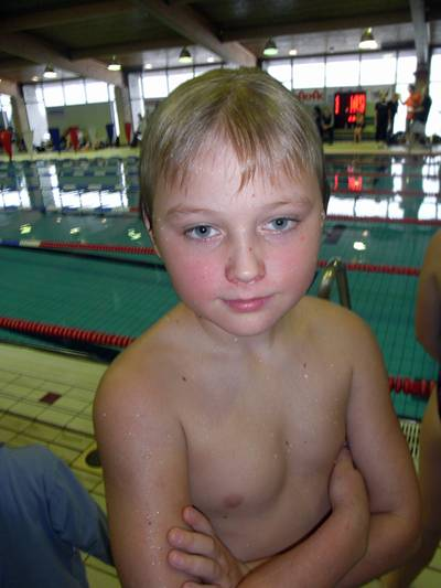 mycket nöjd simmare