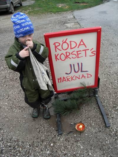 Röda korsets julmarknad på Vingården i Hablingbo